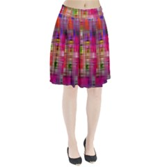 Background Abstract Weave Of Tightly Woven Colors Pleated Skirt