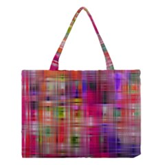 Background Abstract Weave Of Tightly Woven Colors Medium Tote Bag