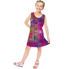 Background Abstract Weave Of Tightly Woven Colors Kids  Tunic Dress