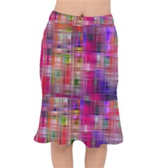 Background Abstract Weave Of Tightly Woven Colors Mermaid Skirt