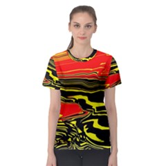 Abstract Clutter Women s Sport Mesh Tee