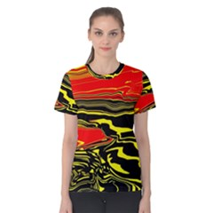 Abstract Clutter Women s Cotton Tee