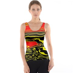 Abstract Clutter Tank Top