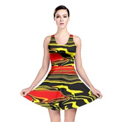 Abstract Clutter Reversible Skater Dress