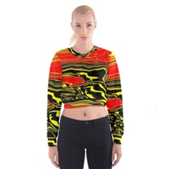 Abstract Clutter Women s Cropped Sweatshirt