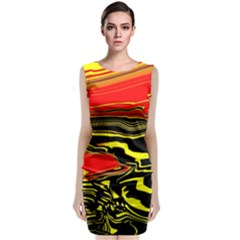 Abstract Clutter Classic Sleeveless Midi Dress