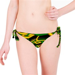 Green Yellow Fractal Vortex In 3d Glass Bikini Bottom