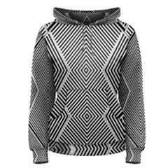 Black And White Line Abstract Women s Pullover Hoodie