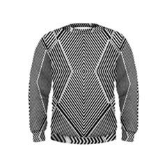 Black And White Line Abstract Kids  Sweatshirt
