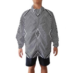 Black And White Line Abstract Wind Breaker (kids)
