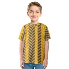 Brown And Orange Herringbone Pattern Wallpaper Background Kids  Sport Mesh Tee