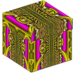 Fractal In Purple And Gold Storage Stool 12