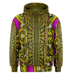 Fractal In Purple And Gold Men s Pullover Hoodie