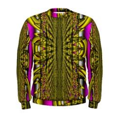 Fractal In Purple And Gold Men s Sweatshirt