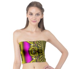 Fractal In Purple And Gold Tube Top