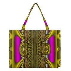 Fractal In Purple And Gold Medium Tote Bag