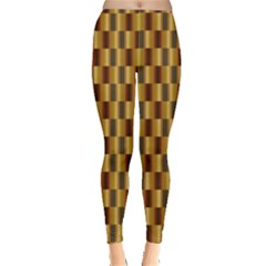 Gold Abstract Wallpaper Background Leggings