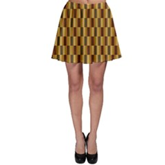 Gold Abstract Wallpaper Background Skater Skirt