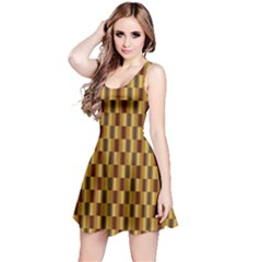 Gold Abstract Wallpaper Background Reversible Sleeveless Dress