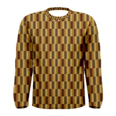 Gold Abstract Wallpaper Background Men s Long Sleeve Tee