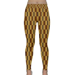 Gold Abstract Wallpaper Background Classic Yoga Leggings