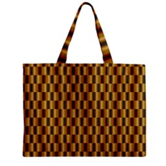 Gold Abstract Wallpaper Background Zipper Mini Tote Bag