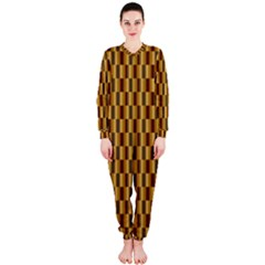 Gold Abstract Wallpaper Background Onepiece Jumpsuit (ladies)