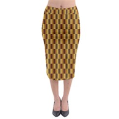 Gold Abstract Wallpaper Background Midi Pencil Skirt