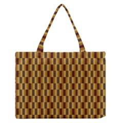 Gold Abstract Wallpaper Background Medium Zipper Tote Bag