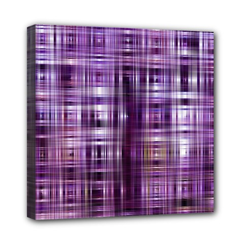 Purple Wave Abstract Background Shades Of Purple Tightly Woven Mini Canvas 8  X 8