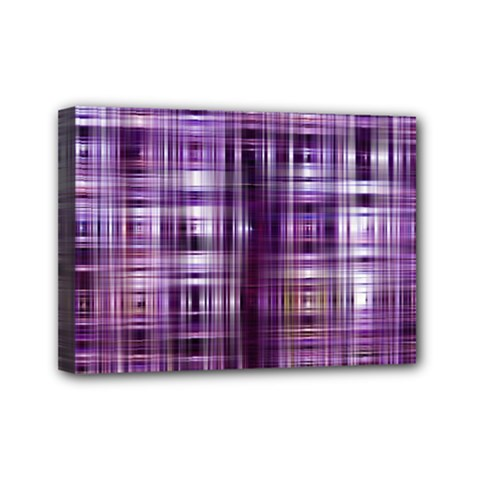 Purple Wave Abstract Background Shades Of Purple Tightly Woven Mini Canvas 7  X 5