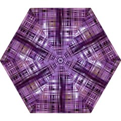 Purple Wave Abstract Background Shades Of Purple Tightly Woven Mini Folding Umbrellas