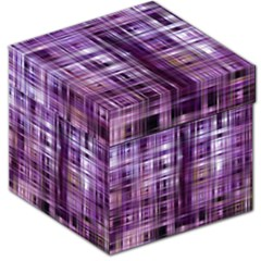 Purple Wave Abstract Background Shades Of Purple Tightly Woven Storage Stool 12