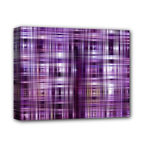 Purple Wave Abstract Background Shades Of Purple Tightly Woven Deluxe Canvas 14  x 11