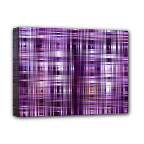 Purple Wave Abstract Background Shades Of Purple Tightly Woven Deluxe Canvas 16  x 12