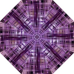Purple Wave Abstract Background Shades Of Purple Tightly Woven Hook Handle Umbrellas (large)