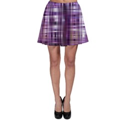 Purple Wave Abstract Background Shades Of Purple Tightly Woven Skater Skirt