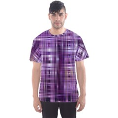 Purple Wave Abstract Background Shades Of Purple Tightly Woven Men s Sport Mesh Tee