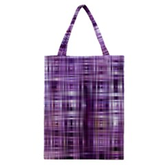 Purple Wave Abstract Background Shades Of Purple Tightly Woven Classic Tote Bag