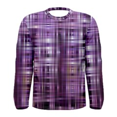 Purple Wave Abstract Background Shades Of Purple Tightly Woven Men s Long Sleeve Tee