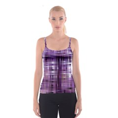 Purple Wave Abstract Background Shades Of Purple Tightly Woven Spaghetti Strap Top