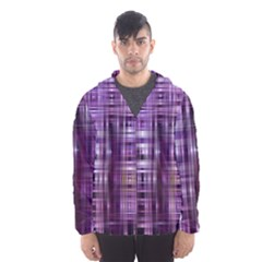 Purple Wave Abstract Background Shades Of Purple Tightly Woven Hooded Wind Breaker (Men)