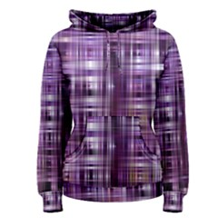 Purple Wave Abstract Background Shades Of Purple Tightly Woven Women s Pullover Hoodie