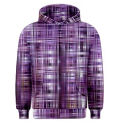 Purple Wave Abstract Background Shades Of Purple Tightly Woven Men s Zipper Hoodie