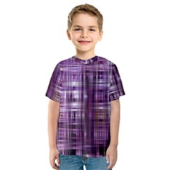 Purple Wave Abstract Background Shades Of Purple Tightly Woven Kids  Sport Mesh Tee