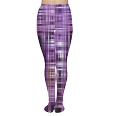 Purple Wave Abstract Background Shades Of Purple Tightly Woven Women s Tights