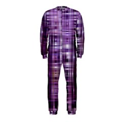 Purple Wave Abstract Background Shades Of Purple Tightly Woven OnePiece Jumpsuit (Kids)