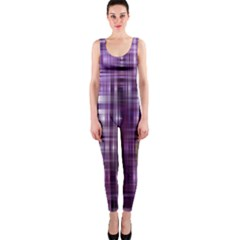Purple Wave Abstract Background Shades Of Purple Tightly Woven Onepiece Catsuit