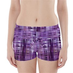 Purple Wave Abstract Background Shades Of Purple Tightly Woven Boyleg Bikini Wrap Bottoms
