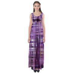 Purple Wave Abstract Background Shades Of Purple Tightly Woven Empire Waist Maxi Dress